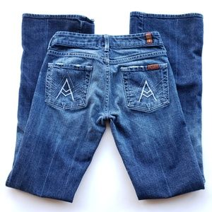 7 For All Mankind A Pocket Flare Bootcut Jeans 24